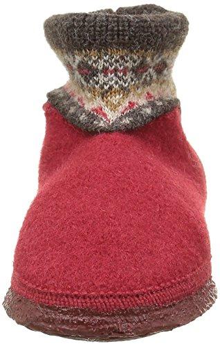 Giesswein Kristiansand 58/10/41523 - Zapatillas de casa de fieltro para niños Rojo (362 / Kirsche)