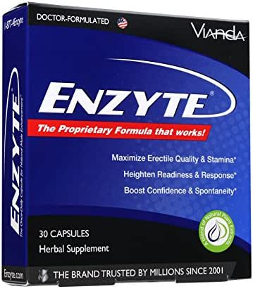 Enzyte® Natural Male Enhancement Supplement with Asian Ginseng, Ginkgo Biloba, Grape Seed Extract, Horny Goat Weed - 30 Capsules