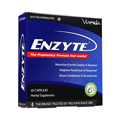 Enzyte Enhancement Pills for Men, Male Sexual Enhancer Supplement with Asian Ginseng, Gingko Biloba, and Grape Seed Extract - 30 Capsules