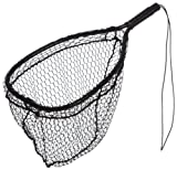 Ed Cumings Fish Saver Landing Net (Black, 14-Inch x 11-Inch Bow x 19 1/2-Inch Overall Length x 12-Inch Depth )