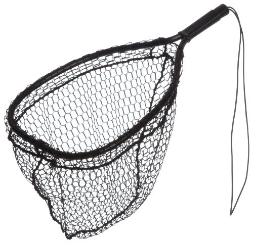 Ed Cumings Inc B-135 Ed Cumings Fish Saver Landing Net (Black, 14-Inch x 11-Inch Bow x 19 1/2-Inch Overall Length x 12-Inch Depth) (Best Trout Landing Net)