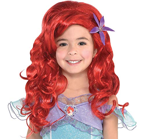 Suit Yourself Long Ariel Wig for Kids, The Little Mermaid, Halloween Costume Accessories, One Size -