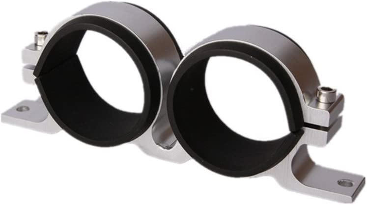 Bosch 044 Dual Black Billet Aluminum Fuel Pump Bracket 60mm  Walbro Filter Dual