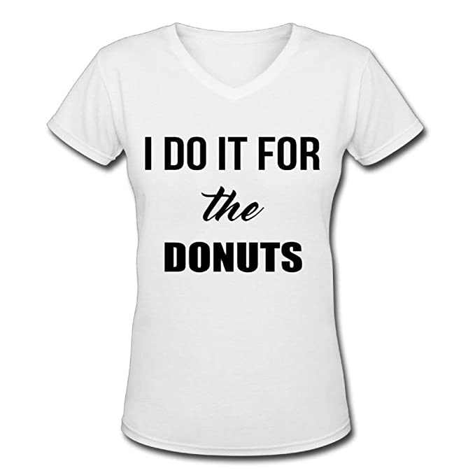 Casual Graphic Tees Shirts Teen Girls I Do It The Donuts Casual Cotton  Short Sleeve T
