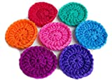 Super Nylon Scrubbies - Set Of 4(four) Nylon Tulle/Net Scrubbies, Handcrafted in the USA. Pots and Pan Cleaning.