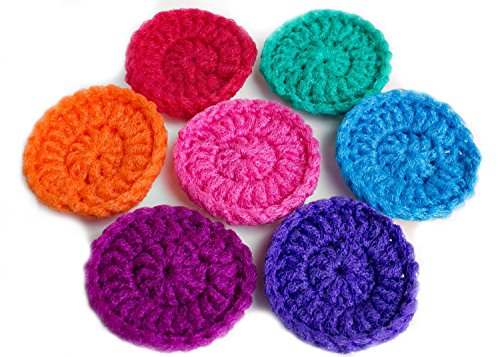 Super Nylon Scrubbies - Set Of 4(four) Nylon Tulle/Net Scrubbies, Handcrafted in the USA. Pots and Pan Cleaning. -