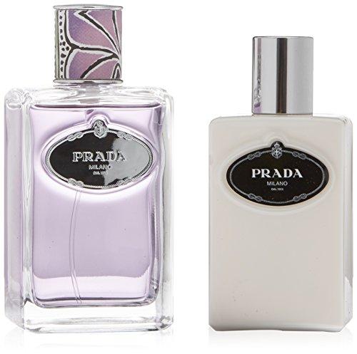 (PRADA INFUSION DE TUBEREUSE by Prada Gift Set for WOMEN: EAU DE PARFUM SPRAY 3.4 OZ & BODY LOTION 3.4 OZ)