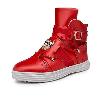 GLSHI Hombres Cima Mas Alta Zapatillas 2018 Otoño Invierno Moda Tendencia Patineta Zapatos Ligero para Caminar