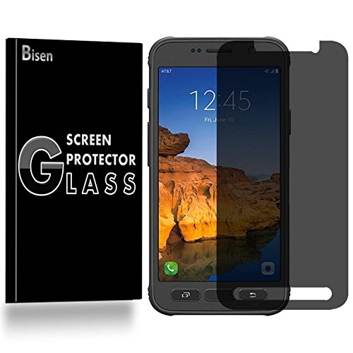 Samsung Galaxy S7 Active [NOT Fit Samsung S7 / S7 Edge] Anti-Spy Tempered Glass Screen Protector [BISEN], Privacy Screen, 9H, Anti-Scratch, Anti-Shock, Bubble Free, Lifetime Protection & Replacement