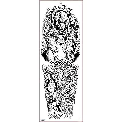 Gran Brazo De La Manga del Tatuaje Impermeable Etiqueta Engomada ...