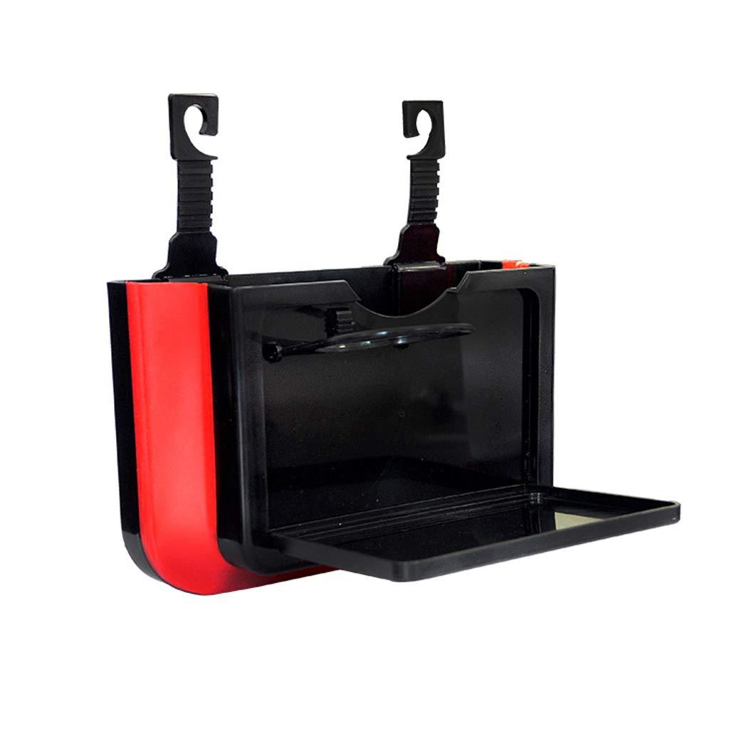 Xndz Elegante Compartimiento de Basura del Coche con portavasos | Cubo de Basura multipropósito Premium | Bolsa de Almacenamiento de la Caja de ...