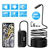 Endoscope Camera, 5MP Auto Focus WiFi Endoscope 1944P Snake Pipe Inspection Borescope for Android and iPhone iOS Smartphone Tablet(5.0MP, 3.5M)