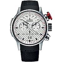 Edox Men's 38001 TIN AIN Chronorally Analog Display Swiss Quartz Black Watch