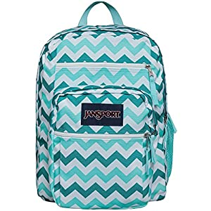 JanSport Big Student Classics Series Backpack - Aqua Dash Zuo Bisou