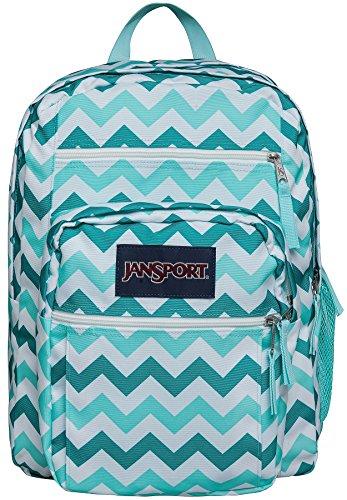 JanSport Big Student Classics Series Backpack – Aqua Dash Zuo Bisou