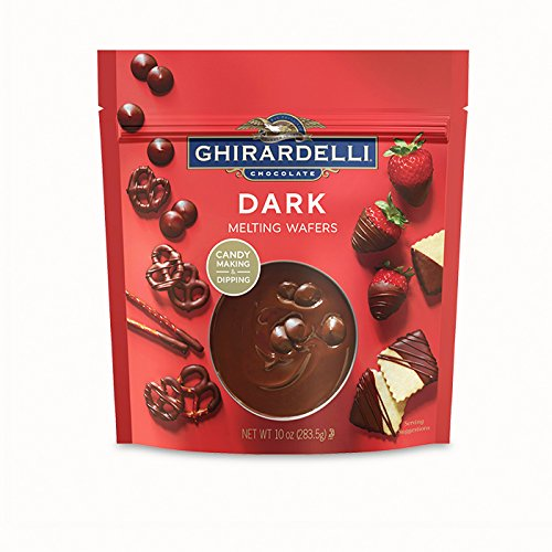 Ghirardelli, Candy Making & Dipping, Dark Chocolate Melting Wafers, 12oz Bag (Pack of 2)