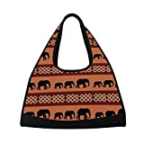 AHOMY Canvas Sports Gym Bag South Africa Elephant Duffel Bag Travel Shoulder Bag