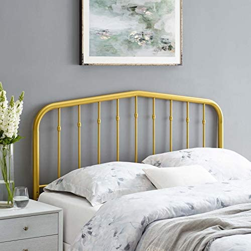 Modway Lennon Modern Farmhouse Metal Queen Headboard