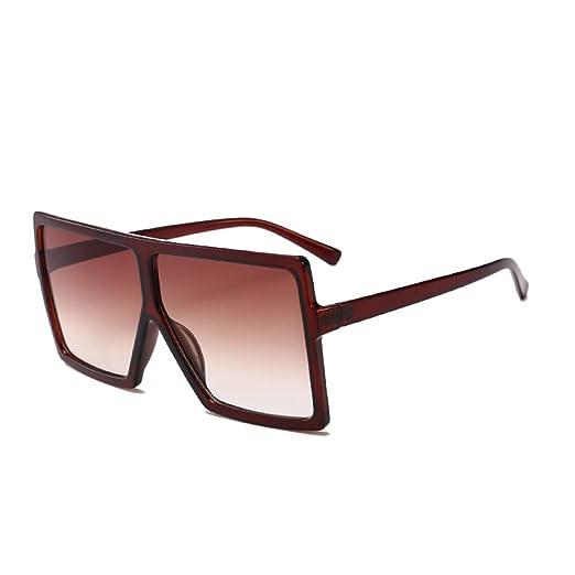 Yangjing-hl Gafas de Sol cuadradas Creativas para Hombre ...