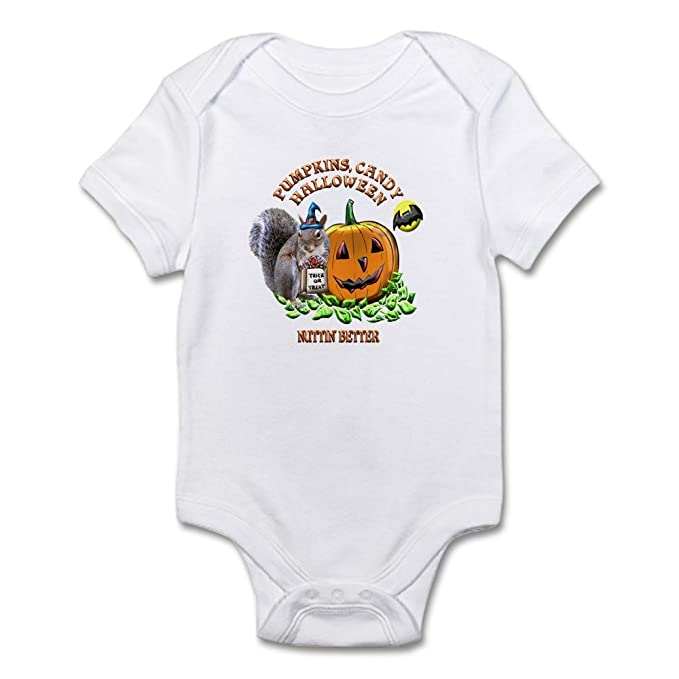 CafePress Halloween Squirrel Infant Bodysuit Cute Infant Bodysuit Baby  Romper Cloud White 0ba3ab30a