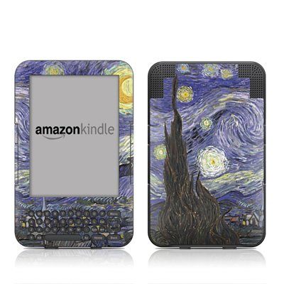 starry-night-design-protective-decal-skin-sticker-for-amazon-kindle-keyboard-keyboard-3g-3rd-gen-e-b
