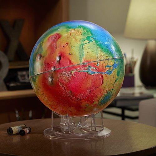 Mars Topography Globe