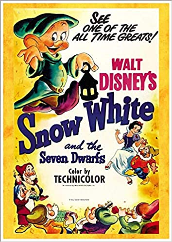 image relating to Printable Movie Posters known as Terrific A4 Shiny Print - Snow White And The 7 Dwarfs
