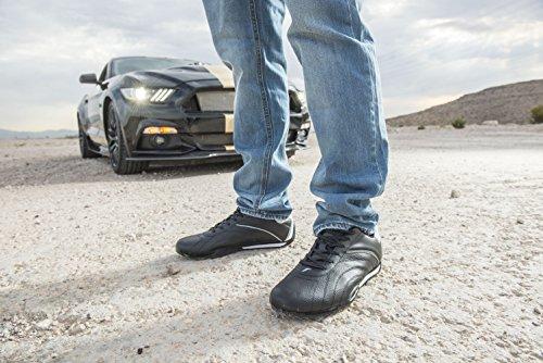 Goodyear Herren Ori Racer Sneaker - Niedrige Sneakers, PU-Leder & Mesh-Futter Schwarz-Weiss