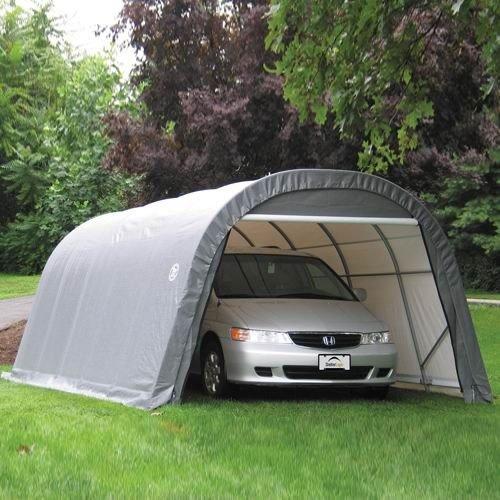 ShelterLogic 12-Ft.W Round-Style Instant Garage - 24ft.L x 12ft.W x 8ft.H, 1 5/8in. Frame, Green, Model# (Round Top Shelter)