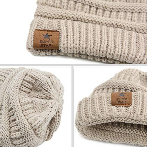 7e0fa87ef32 Zando Kids Baby Toddler Ribbed Knit Children Winter Hats Beanies Caps Oreo