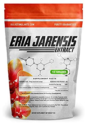 ERIA JARENSIS EXTRACT - Bulk Powder 10 grams 133 Servings - New PEA Supplement ? NEW STIMULANT and NOOTROPIC ? Increase Focus Energy Cognitive Performance - SCOOP INCLUDED
