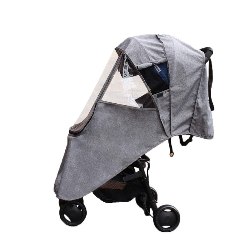 LaChaDa Stroller Cover Weather Shield Universal Waterproof Protection Umbrella Wind Dust Cover for Strollers(Grey) by LaChaDa
