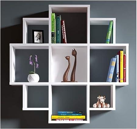 Homidea Bloom Wall Shelf Bookcase Book Shelf Floating Shelf For Living Room Decoration In Modern Design White Amazon Co Uk Kitchen Home