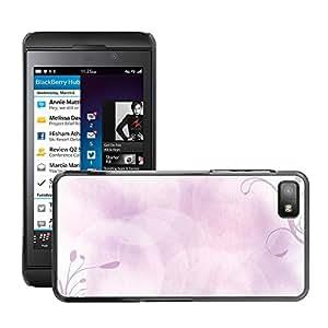 Etui Housse Coque de Protection Cover Rigide pour // M00150170 Antecedentes Planta Ornamento rosado // BlackBerry Z10