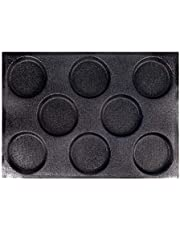 Silicone Hamburger Bread Forms,Non-Stick Bun Bread Baking Molds,Round Perforated Bakery Baking Sheets Bread Pan,8 Cavities