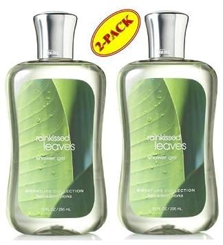 Bath Body Works Rainkissed Leaves Shower Gel Set of Two 10z