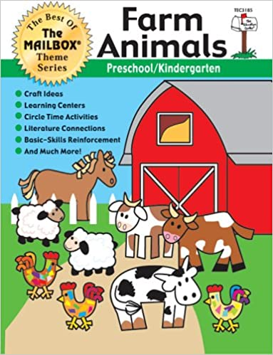 THE EDUCATION CENTER TEC3185 THEME BOOK FARM ANIMALS GR