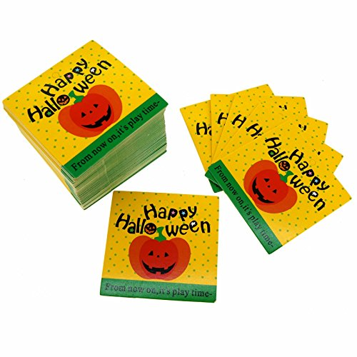 Happy Halloween Pumpkin Design Paper Gift / Price Tags for Gift Wrapping Packaging, Set of 95 -