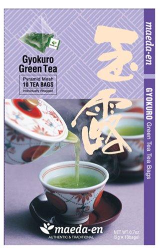 Maeda-En Premium Gyokura Green Tea - Tea Bags, 10-Ounce (Gyokuro Green Tea)