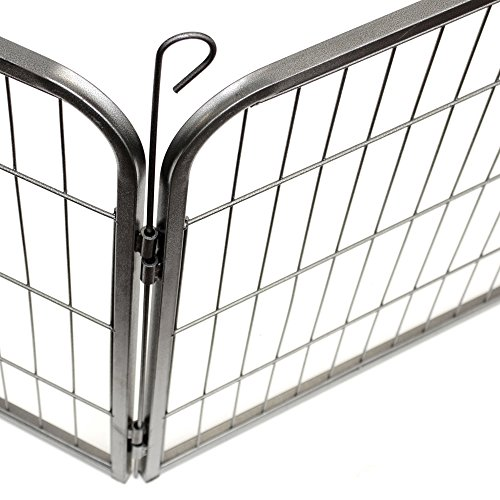 Paws & Pals Pet Exercise Pen Tube Gate w/ Door - (8 Panel Playpen) Heavy Duty Folding Metal Out-Door Fence - 32'' Playpen by Paws & Pals (Image #1)