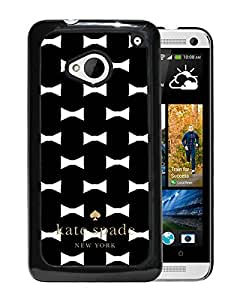 Unique Designed Kate Spade Cover Case For HTC ONE M7 Black Phone Case 22