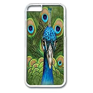 Custom Case with Vibrant Peacock Personalized Back Snap On Case for iPhone 6 4.7 PC Transparent