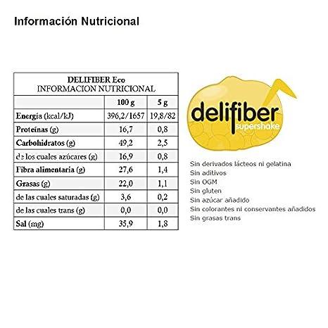 Energy Feelings Delifiber Ecológico - 150 gr: Amazon.es: Salud y cuidado personal