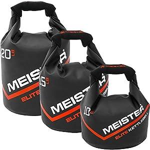 Meister Elite Portable Sand Kettlebell Soft Sandbag Weight 10/15/20lb