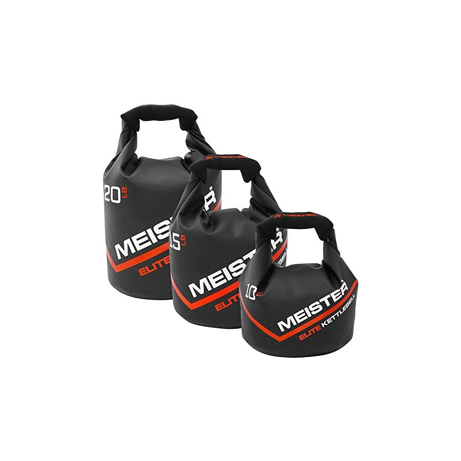 Meister Elite Portable Sand Kettlebell Soft Sandbag Weight 10/15/20lb