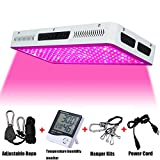 Phlizon Newest 1800W High Power Series Plant LED Grow Light,with Thermometer Humidity Monitor,with Adjustable Rope,Double Chips Full Spectrum Grow Lamp for Indoor Plant