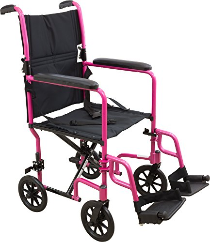 Roscoe Medical KTA1916SA-PK Aluminum Transport Wheelchair...