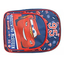 Disney Cars Lightning McQueen 95 Backpack With Pocket Blue and Red