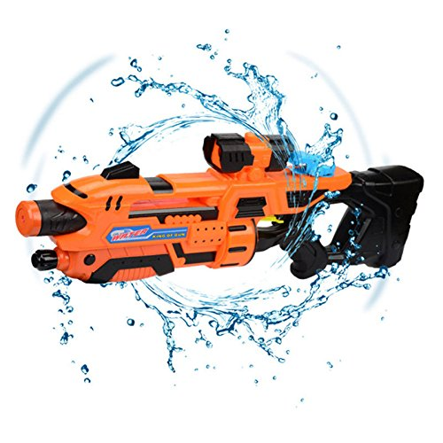 Pannow 24' Large Water Gun Pistol, High Pressure Pull-Type Squirt Gun Toys for Kids Party and Outdoor Activity Water Fun Toys (Orange)