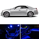 LEDpartsNOW Cadillac CTS 2008-2013 Blue Premium LED Interior Lights Package Kit (13 Pieces)